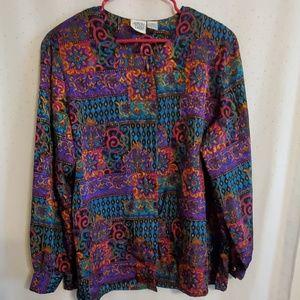 Vintage | 80s Jewel Toned Blouse